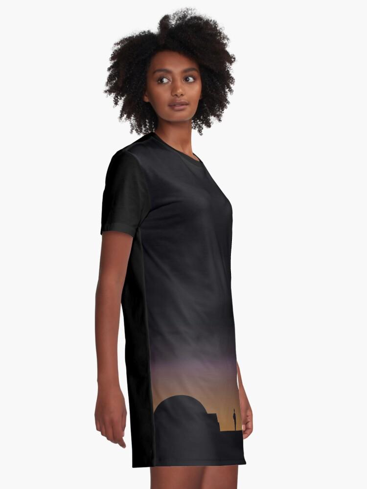 Alternative Ansicht von Der doppelte Sonnenuntergang ... T-Shirt Kleid