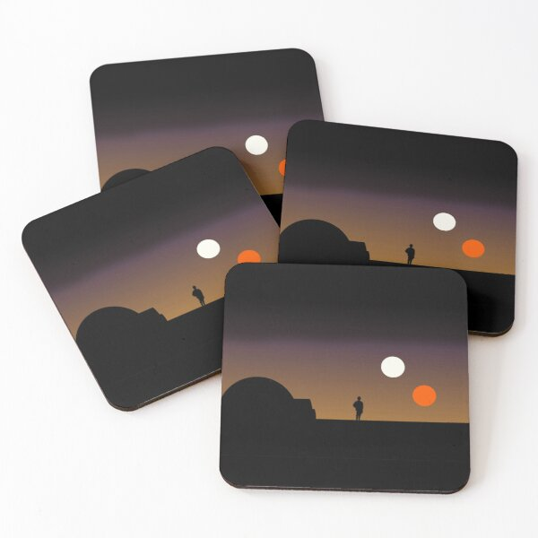 The Double Sunset... Coasters (Set of 4)