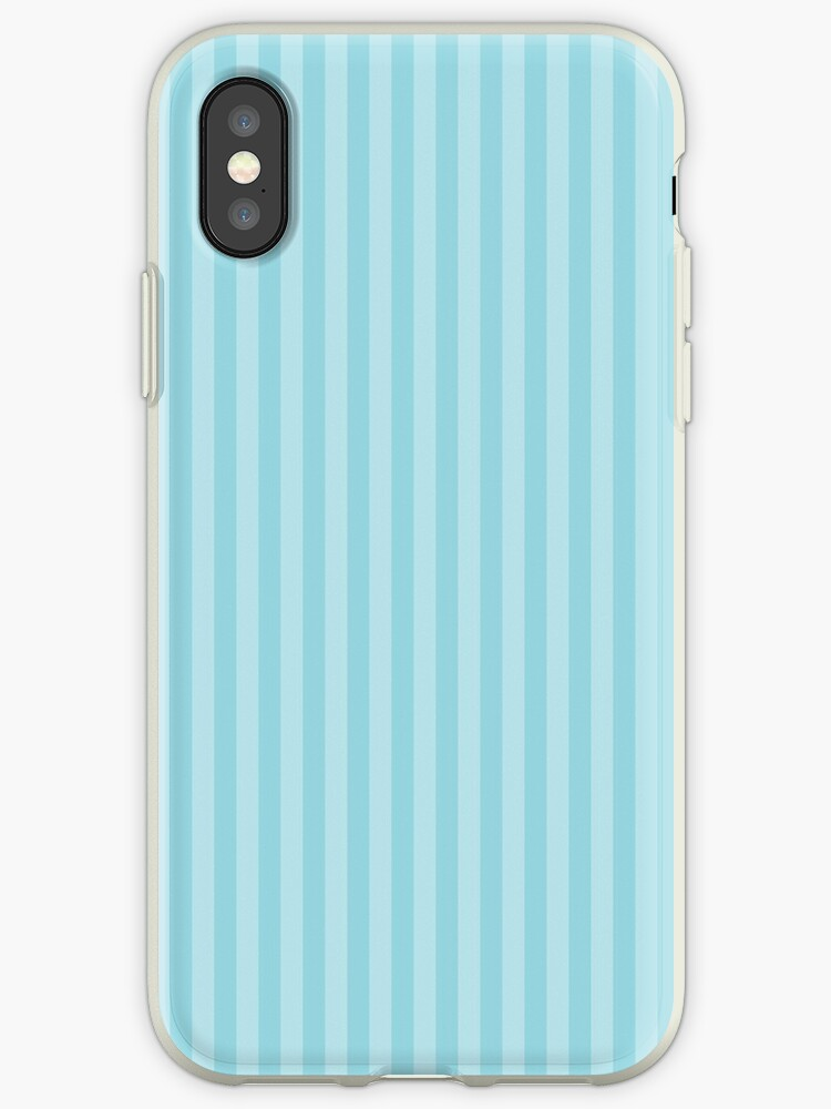 Pale Sky Blue & White Vertical Stripe by podartist