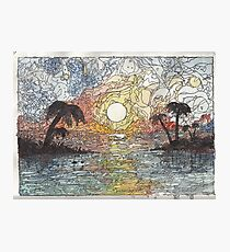 Sunset in color Photographic Print