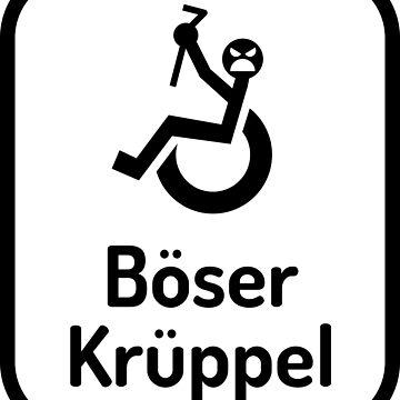 Böser Krüppel - Weiß by lhabc