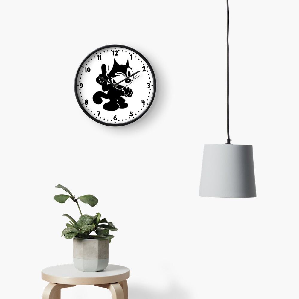 Felix the Cat Winking at.. Clock