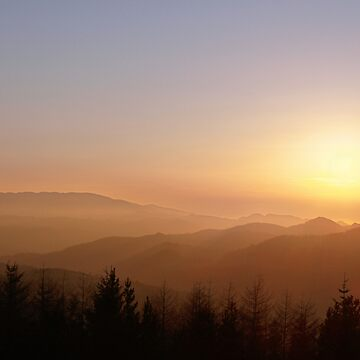 sunset over welsh mountains by bilbobagins
