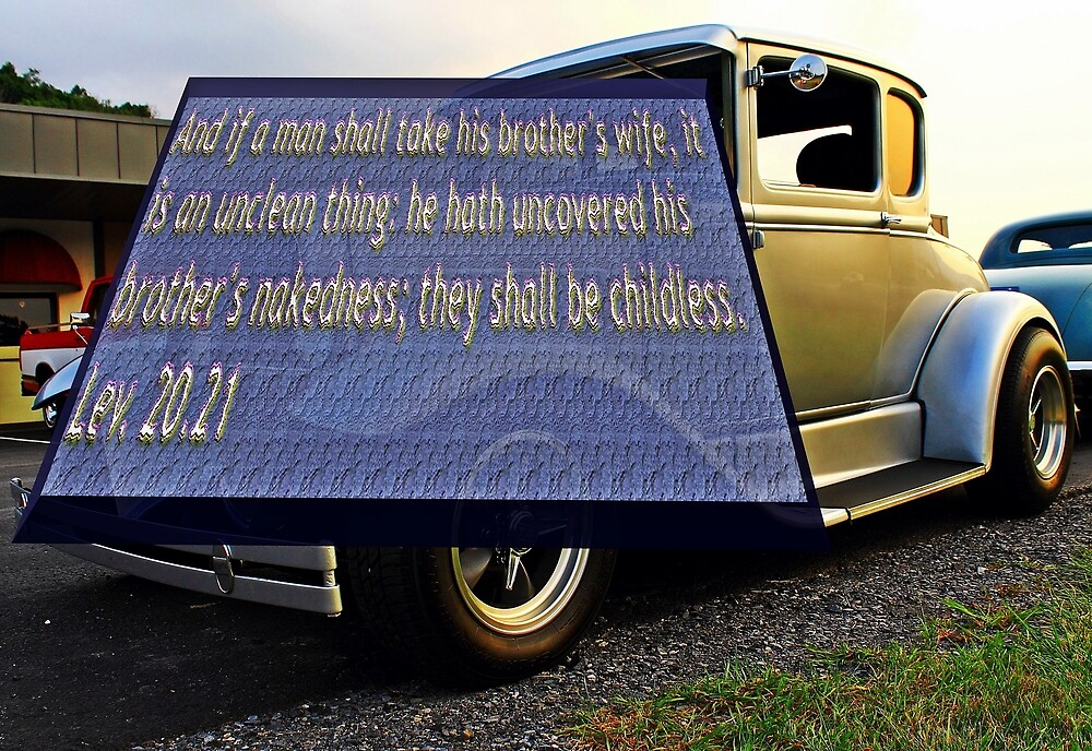 Old car with text 2 by Karl Rose