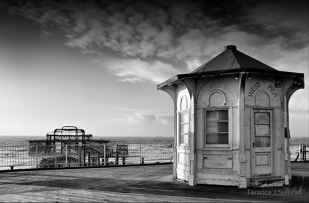 The west pier Brighton by Terence J Sullivan
