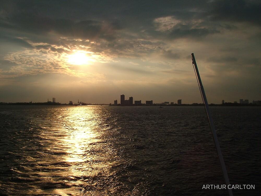 BAHAMAS SUNSET by ARTHUR CARLTON