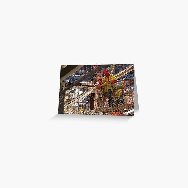 Ground Zero, World Trade Center, work, infrastructure, NYC, Manhattan Greeting Card