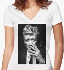 David Lynch Women's Fitted V-Neck T-Shirt