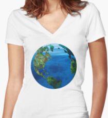 Ocean Earth Women's Fitted V-Neck T-Shirt