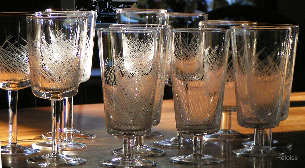 wine glasses & water goblets by Heloise