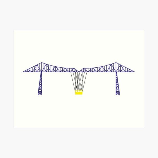 NDVH Tees Transporter Bridge Art Print