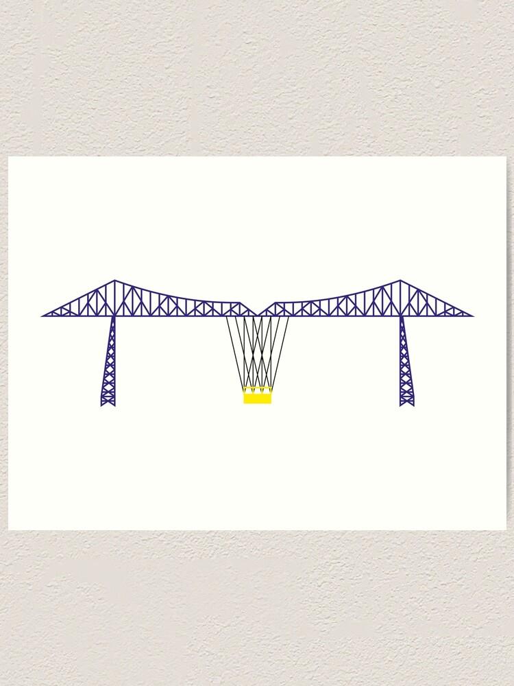 Alternate view of NDVH Tees Transporter Bridge Art Print