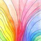 Wavy Rainbow Pattern by CarolineLembke