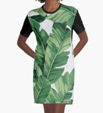 Vestido camiseta Tropical banana leaves