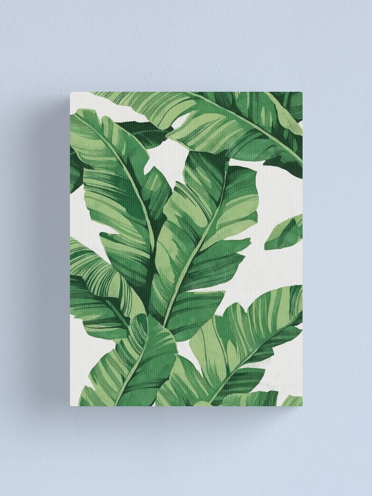 Alternate view of Tropical banana leaves Canvas Print