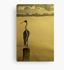 Lingering Heron Canvas Print
