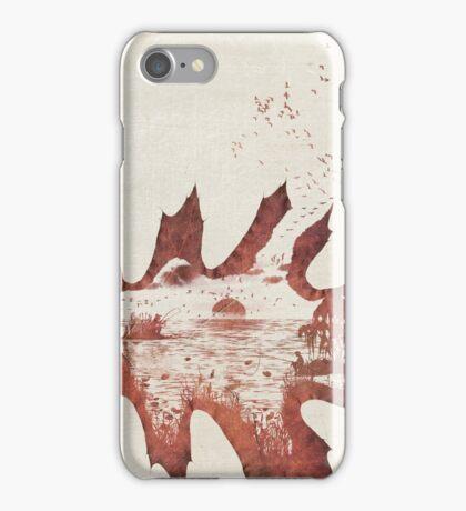 Autumn morning on the lake iPhone Case/Skin