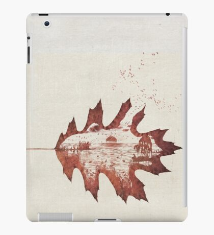 Autumn morning on the lake iPad Case/Skin