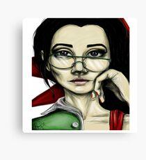 Smart lady Canvas Print