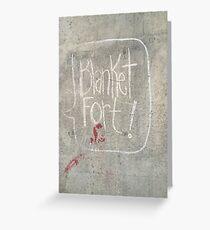 Blanket Fort Greeting Card