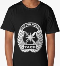 U.S. Air Force Tactical Air Control Party - USAF TACP Crest over Blue Velvet Long T-Shirt