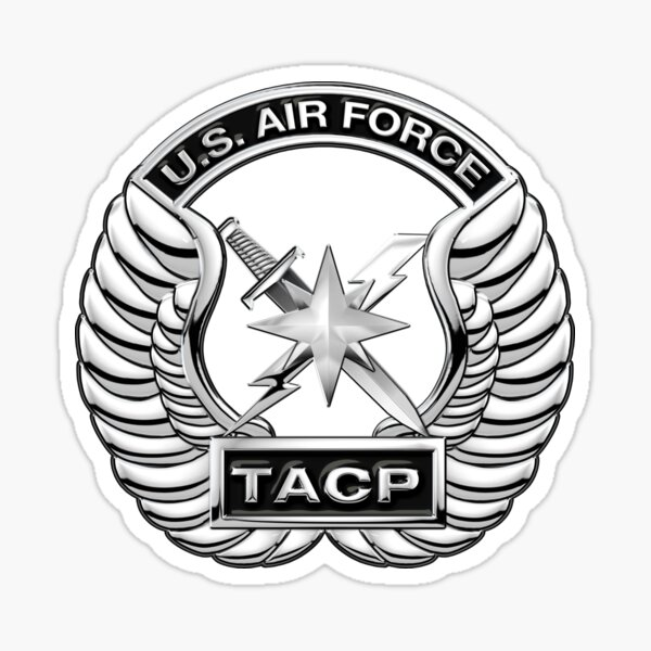 Tactical Air Control Party - TACP Beret Flash With Crest over Blue Velvet Sticker