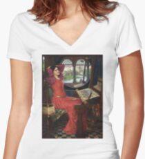 I am half-sick of shadows, said the Lady of Shalott - John William Waterhouse Women's Fitted V-Neck T-Shirt