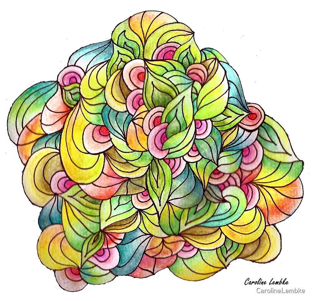 Floral Pattern on White Background by CarolineLembke