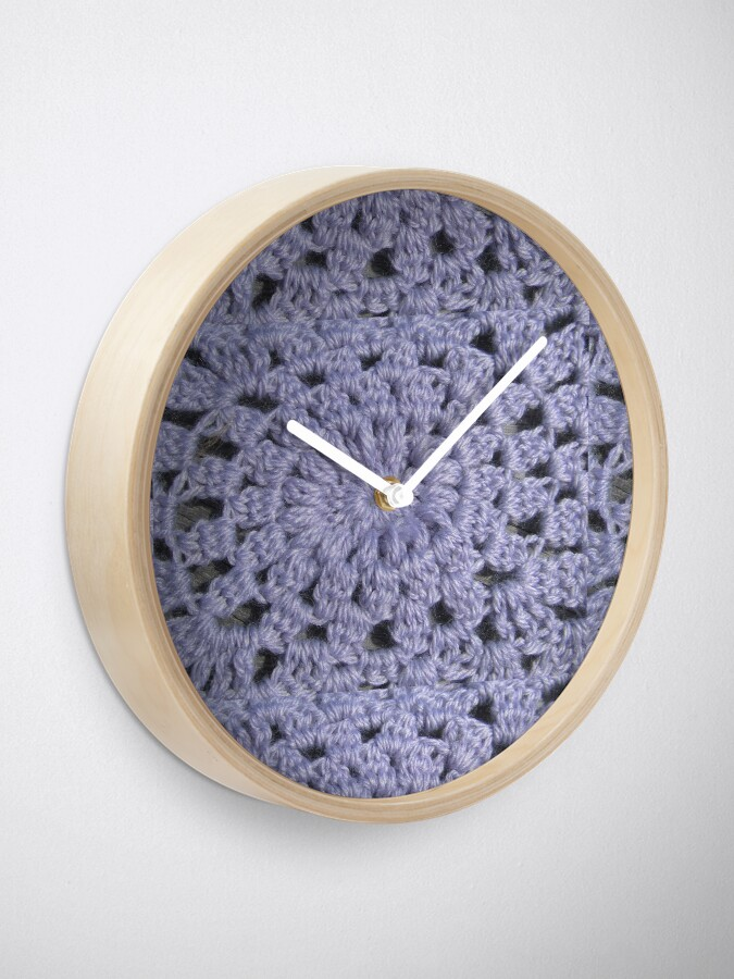 Alternate view of Knit pattern Clock