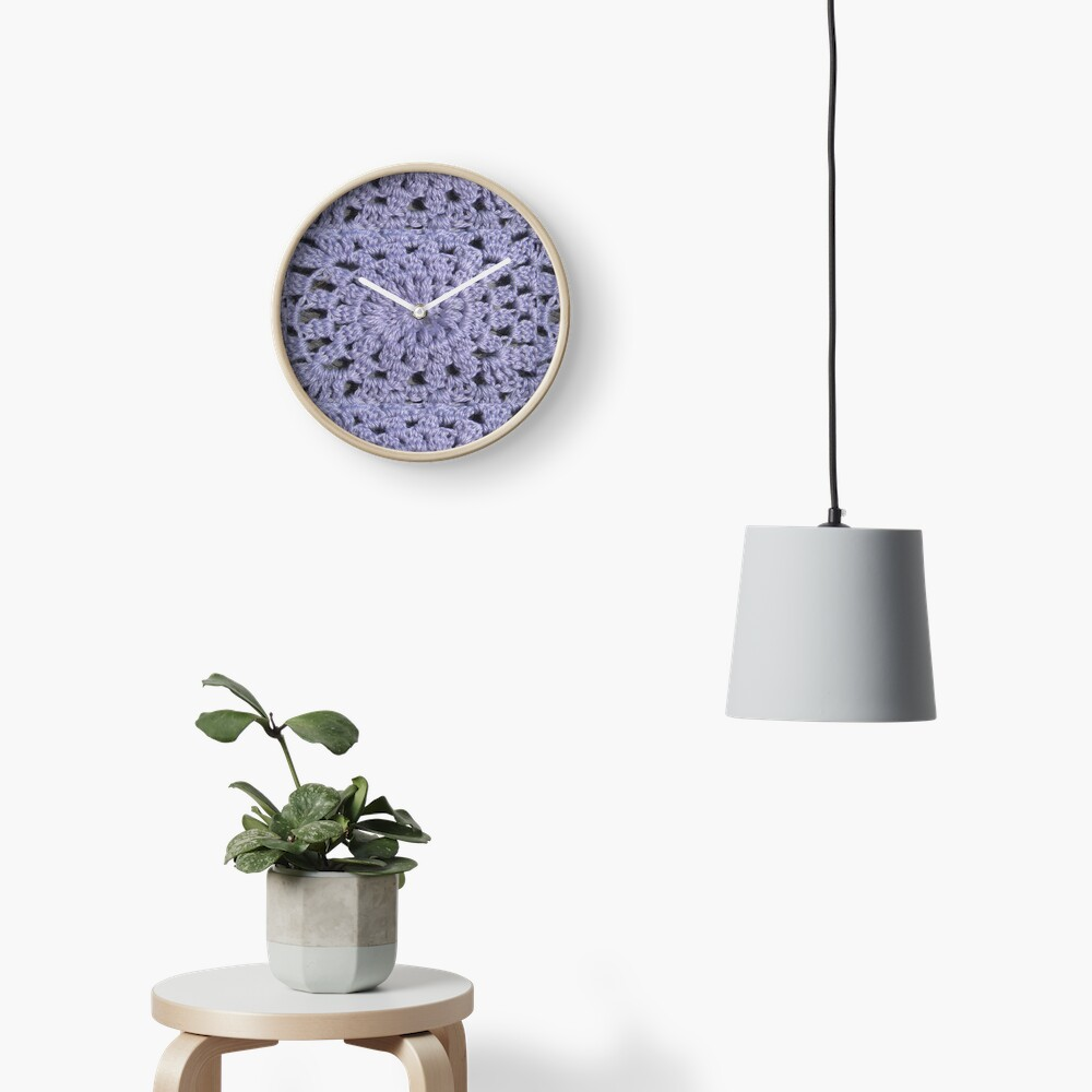 Knit pattern Clock