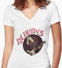 Forever and Alvvays  Women's Fitted V-Neck T-Shirt