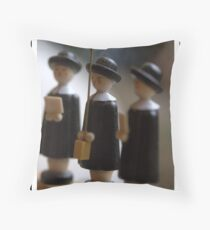 Carol Singers Throw Pillow