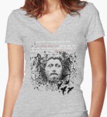 Marcus Aurelius Women's Fitted V-Neck T-Shirt