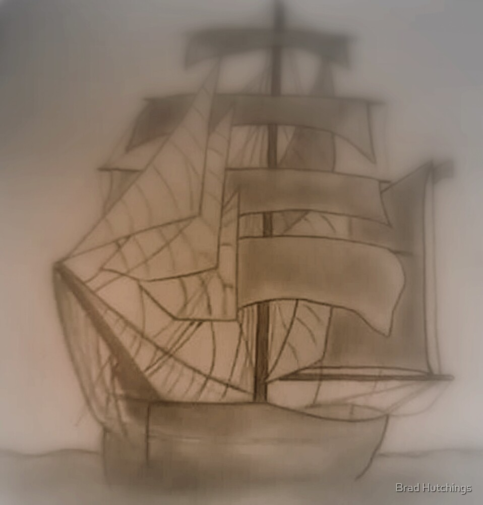 Sail.... In Fog by Brad Hutchings