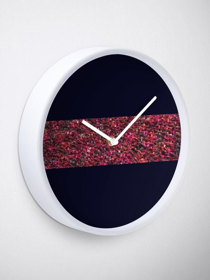 Alternate view of Knit bright pattern Clock