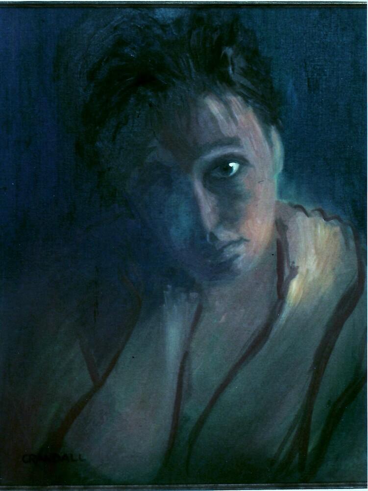 Slum Goddess in deep blue by Gary  Crandall