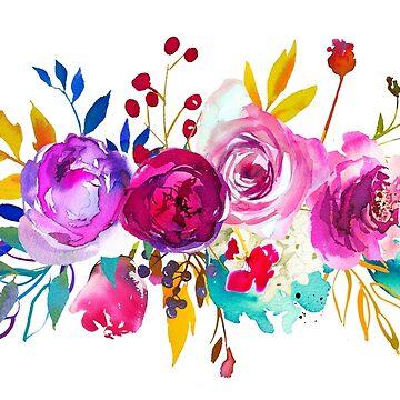 Romantischer Rosen-Blumen-Blumenstrauß # 2 von BekkaCampbell