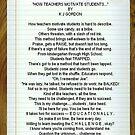 HOW TEACHERS MOTIVATE STUDENTS by WhiteDove Studio kj gordon