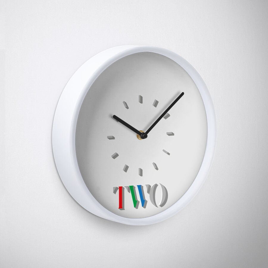 BBC Two 80s Wall Clock