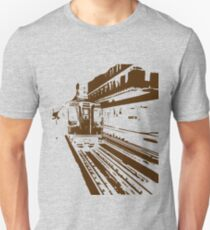 Brown Line Train-ing Stencil  Unisex T-Shirt