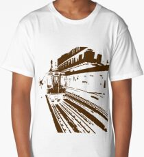 Brown Line Train-ing Stencil  Long T-Shirt