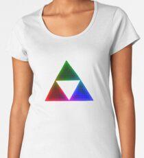 Rainbow Triforce Women's Premium T-Shirt