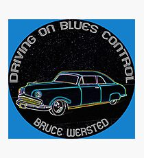 Driving On Blues Control Photographic Print