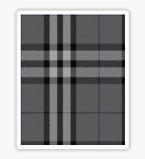 Burberry Grey (Original) Tartan  Sticker