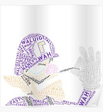 Wordle Waluigi Poster