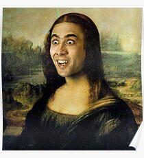 Nicolas Cage as the Mona Lisa Poster