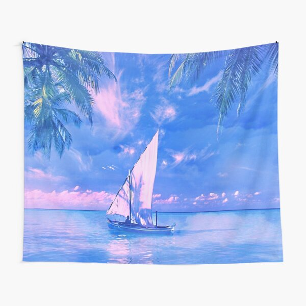 Tropical yachting Tapestry
