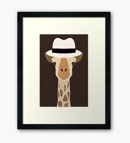 NDVH Giraffe Wearing a Fedora Framed Print