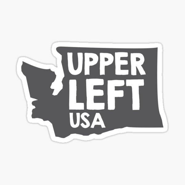 Washington State: Upper Left, USA Sticker