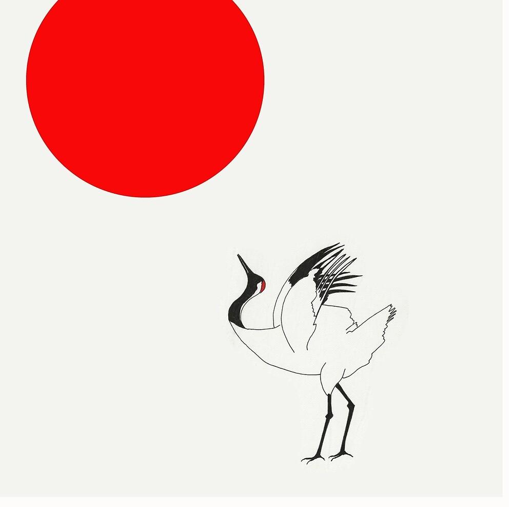 Sun Worshiper Japanese Crane by spotz